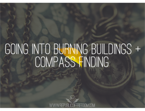 Going into burning buildings + compass-finding