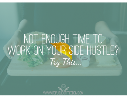 Not enough time to work on your side hustle? Try this.
