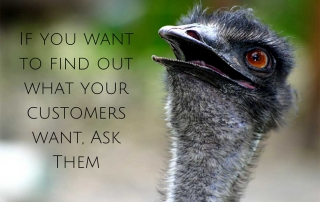 If you want to find out what your customers want, ask them | Republic of Freedom