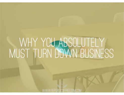 Why you absolutely must turn down business