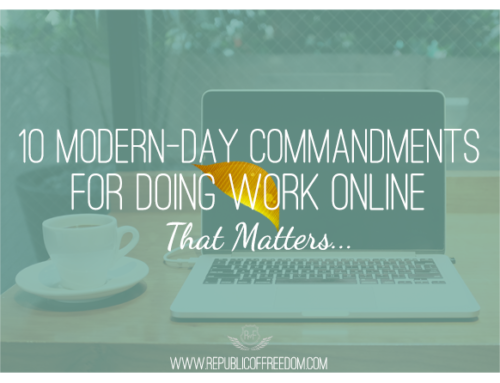 Ten Modern-Day Commandments for Doing Work that Matters (Online)